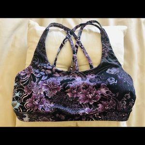 Lululemon Energy Bra Size 10- Memoir multi purple